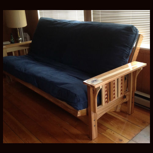 Hickory Craftsman Style Futon With Inlay